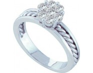 Ladies Diamond Cluster Ring 14K White Gold 0.50 cts. GD-13900