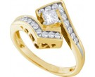 Ladies Diamond Engagement Ring 14K Yellow Gold 0.50 ct. GD-14359