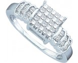 Ladies Diamond Engagement Ring 14K White Gold 0.33 cts. GD-15210