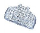 Ladies Diamond Engagement Ring 10K White Gold 0.50 cts. GD-56836