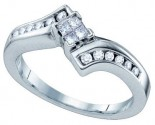Ladies Diamond Engagement Ring 14K White Gold 0.26 cts. GD-15365