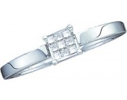 Ladies Diamond Engagement Ring 14K White Gold 0.10 cts. GD-18636