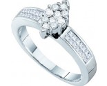 Ladies Diamond Engagement Ring 14K White Gold 0.50 cts. GD-18677