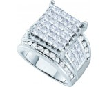 Ladies Diamond Engagement Ring 14K White Gold 3.00 ct. GD-19764