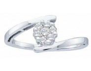Ladies Diamond Engagement Ring 14K White Gold 0.25 cts. GD-21792