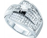 Diamond Engagement Ring 14K White Gold 2.25 cts. GD-21838