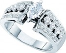 Diamond Engagement Ring 14K White Gold 1.00 ct. GD-21892