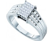 Ladies Diamond Engagement Ring 14K White Gold 0.50 cts. GD-21938