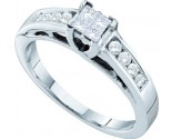 Ladies Diamond Engagement Ring 14K White Gold 0.35 cts. GD-21875