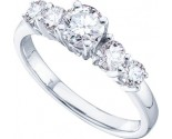 Ladies Diamond Engagement Ring 14K White Gold 1.03 ct. GD-24960