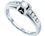 Ladies Diamond Engagement Ring 14K White Gold 0.44 cts. GD-24962