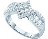 Ladies Diamond Engagement Ring 14K White Gold 0.97 cts. GD-25000