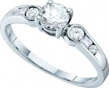 Ladies Diamond Engagement Ring 14K White Gold 0.75 cts. GD-26176