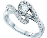 Ladies Diamond Engagement Ring 14K White Gold 0.50 cts. GD-26222