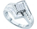 Ladies Diamond Engagement Ring 14K White Gold 0.50 cts. GD-26693