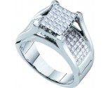 Ladies Diamond Engagement Ring 14K White Gold 1.50 cts. GD-26726