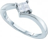 Ladies Diamond Engagement Ring 14K White Gold 0.25 cts. GD-26890