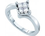 Ladies Diamond Engagement Ring 14K White Gold 1.50 cts. GD-26893