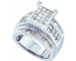Ladies Diamond Engagement Ring 14K White Gold 2.70 cts. GD-26918