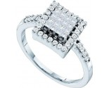 Ladies Diamond Engagement Ring 14K White Gold 0.50 cts. GD-26995