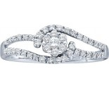 Ladies Diamond Engagement Ring 14K White Gold 0.25 cts. GD-28213