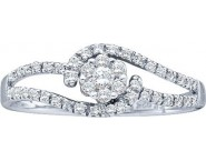 Ladies Diamond Engagement Ring 14K White Gold 0.25 cts. GD-28213 [GD-28213]