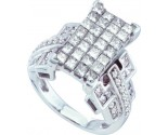 Ladies Diamond Engagement Ring 14K White Gold 2.00 ct. GD-28312