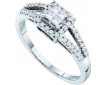 Ladies Diamond Engagement Ring 14K White Gold 0.33 ct. GD-30077