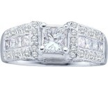 Diamond Engagement Ring 14K White Gold 1.95 cts. GD-30088
