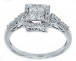 Ladies Diamond Engagement Ring 14K White Gold 0.48 cts. GD-38769