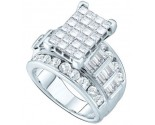 Ladies Diamond Engagement Ring 14K White Gold 4.00 ct. GD-38816