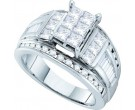 Ladies Diamond Egagement Ring 14K White Gold 2.00 ct. GD-38884