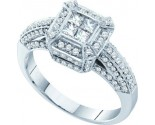Ladies Diamond Engagement Ring 14K White Gold 0.74 cts. GD-39193
