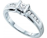 Ladies Diamond Engagement Ring 14K White Gold 0.51 cts. GD-39461