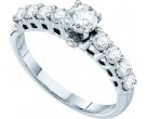 Ladies Diamond Engagement Ring 14K White Gold 1.01 cts. GD-39517