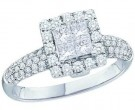 Ladies Diamond Engagement Ring 14K White Gold 1.00 ct. GD-39966