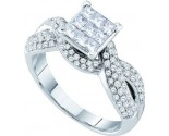 Ladies Diamond Engagement Ring 14K White Gold 0.99 cts. GD-39969