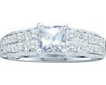 Diamond Engagement Ring 14K White Gold 1.50 cts. GD-40049