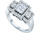 Ladies Diamond Engagement Ring 14K White Gold 0.73 cts. GD-40185