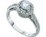 Diamond Engagement Ring 14K White Gold 0.76 cts. GD-41357