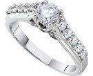 Ladies Diamond Engagement Ring 14K White Gold 1.00 ct. GD-41377