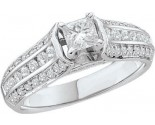Ladies Diamond Engagement Ring 14K White Gold 1.00 ct. GD-41525