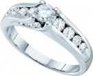 Ladies Diamond Engagement Ring 14K White Gold 1.00 ct. GD-41527