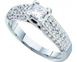 Ladies Diamond Engagement Ring 14K White Gold 0.93 cts. GD-26188