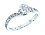 Ladies Diamond Engagement Ring 10K White Gold 0.25 cts. GD-43542