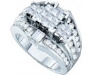 Ladies Diamond Engagement Ring 14K White Gold 2.00 ct. GD-44421