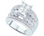 Ladies Diamond Egagement Ring 14K White Gold 1.51 cts. GD-44434
