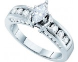 Ladies Diamond Engagement Ring 14K White Gold 1.00 ct. GD-44457