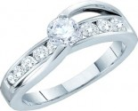 Ladies Diamond Engagement Ring 14K White Gold 1.00 ct. GD-44460