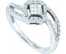 Ladies Diamond Engagement Ring 14K White Gold 0.25 cts. GD-44471